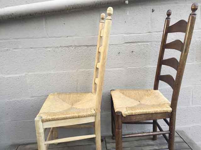 Luchtgommen van oude stoelen